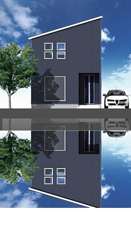 片流屋根 2階:Type3 1階:Type1