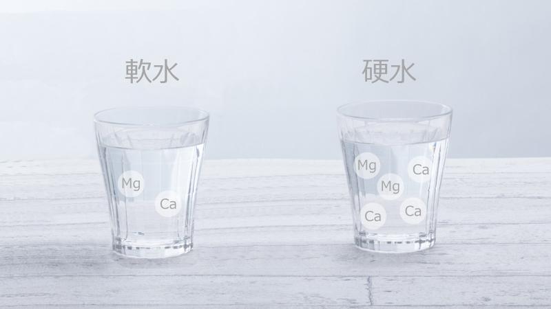 水の硬度がもたらす身体への影響の違い