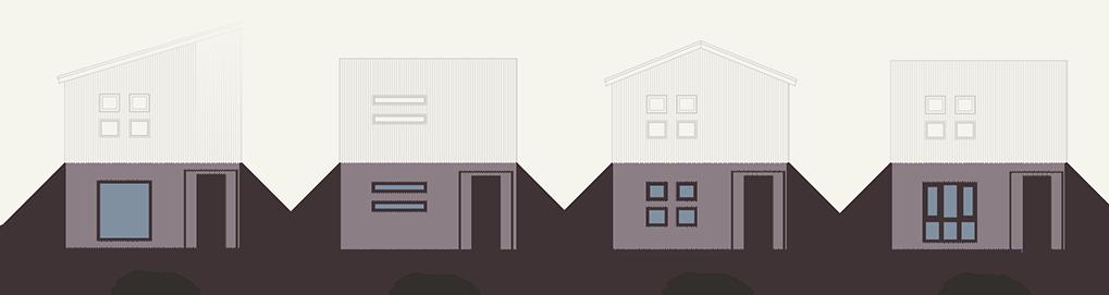 1階の窓デザイン