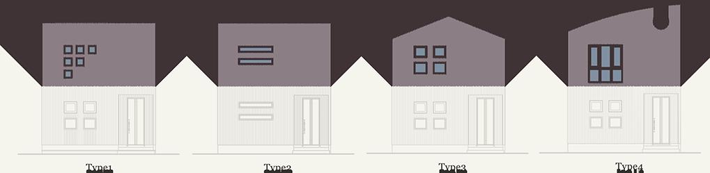 2階の窓デザイン