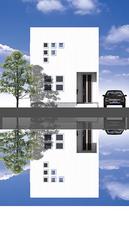 陸屋根 2階:Type1 1階:Type3